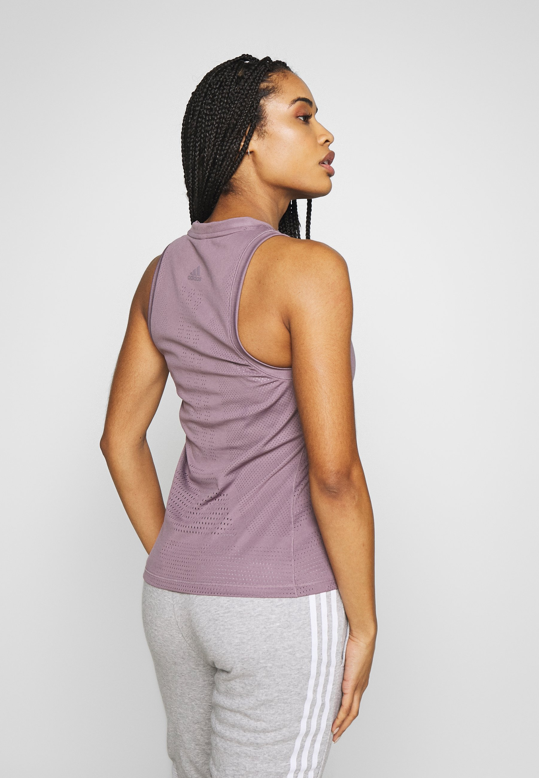 adidas Performance KNIT SPORT CLIMALITE WORKOUT TANK TOP - Sports shirt - purple h8aAf