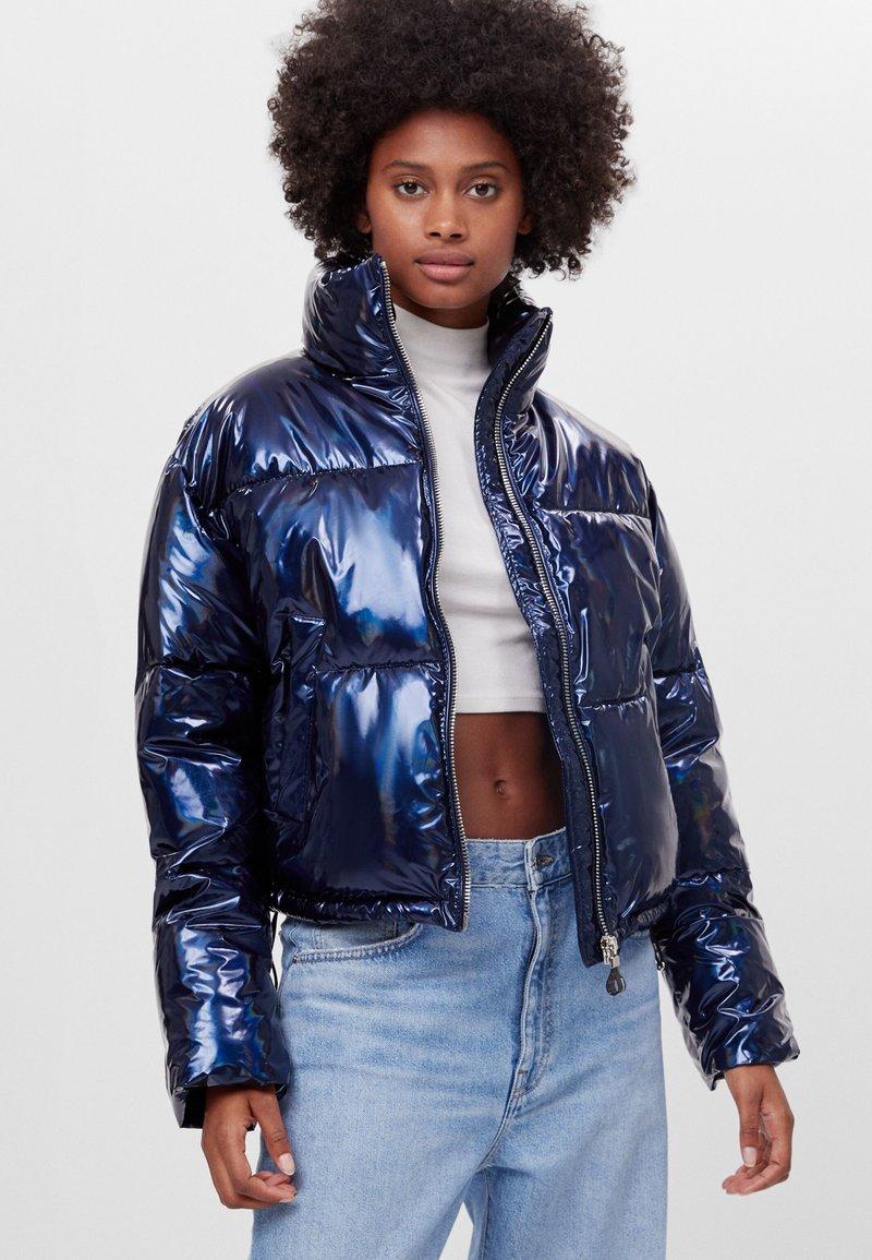 Bershka - Zimní bunda - dark blue