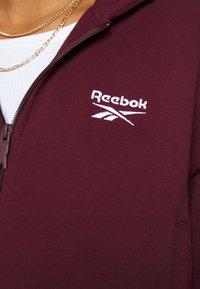 Reebok Classic - VECTOR HOODIE - Mikina na zip - maroon - 5