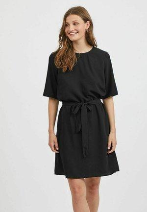 MINIKLEID KURZÄRMELIG - Day dress - black