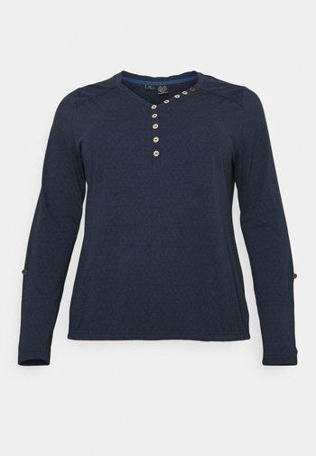 PINCH PLUS - Long sleeved top - navy