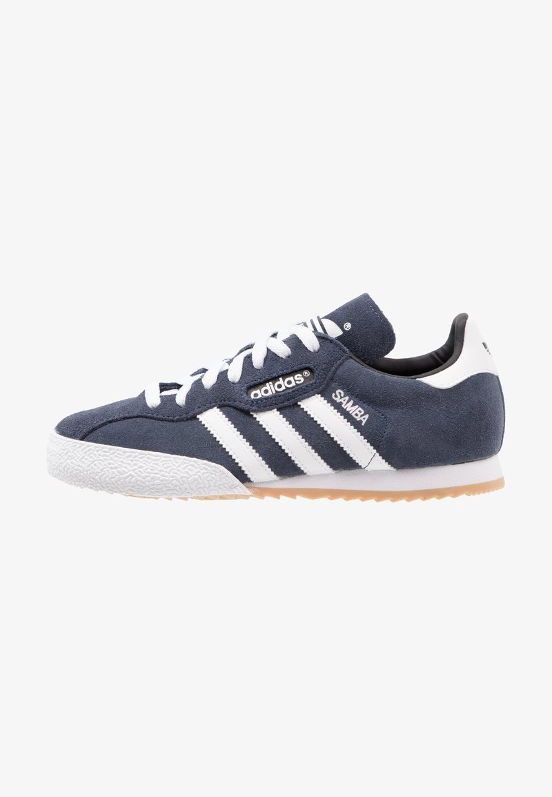 adidas Originals - SAMBA SUPER SUEDE - Trainers - marine/running white