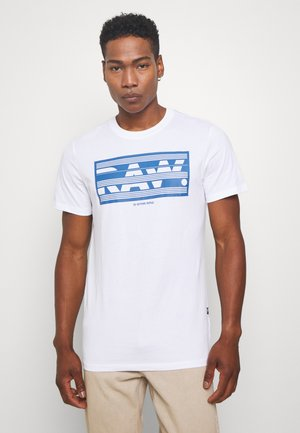 BOXED RAW GR  - Print T-shirt - white