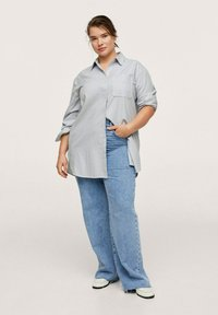 Mango - OXFORD - Button-down blouse - azul - 1