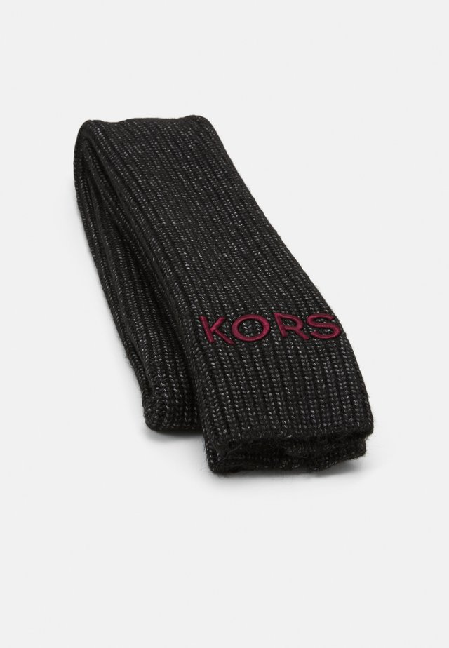 EMBROIDERD MUFFLER - Sciarpa - black