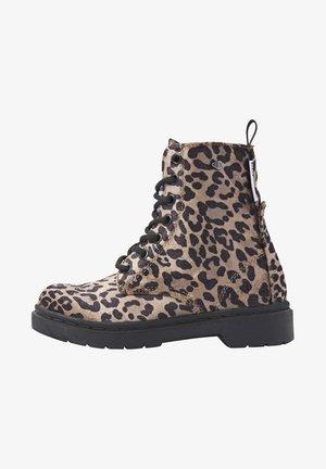 Kotníkové boty - brown leopard