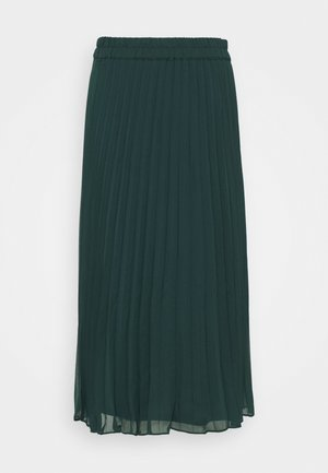LAURA PLISSÉ SKIRT - A-line skirt - dark green