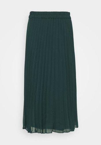 LAURA PLISSÉ SKIRT - A-linjainen hame - dark green