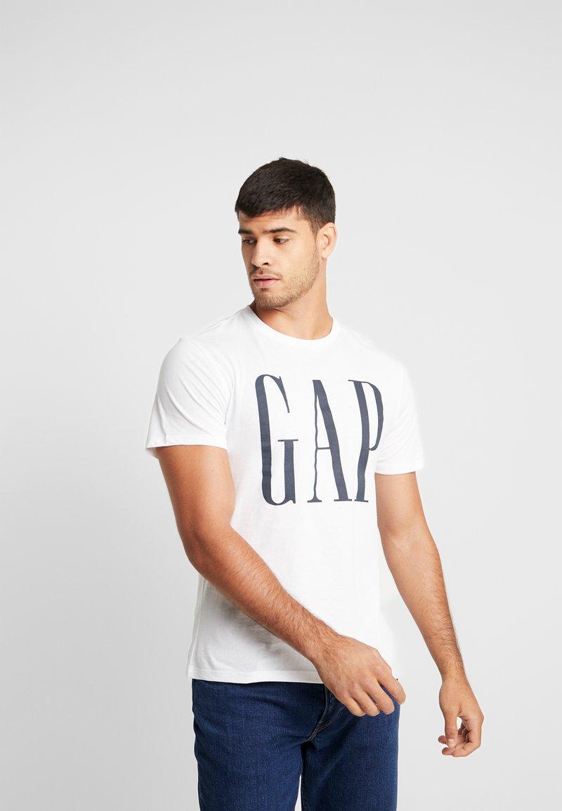 GAP - CORP LOGO - Print T-shirt - white