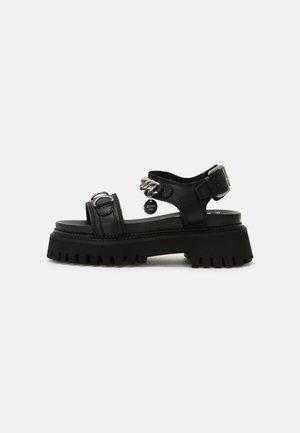 GROOVY - Sandały na platformie - black