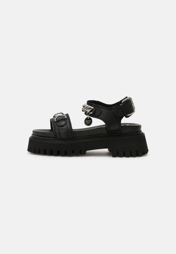 GROOVY - Platform sandals - black