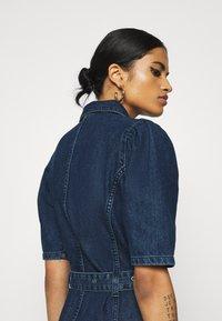 ONLY - ONLCLARITY LIFE PUFF - Vestito di jeans - dark blue denim - 3