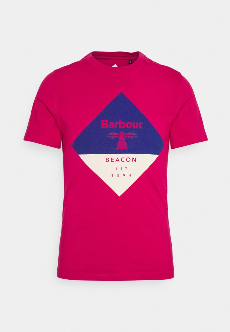 Barbour Beacon - DIAMOND TEE - T-shirt med print - cerise
