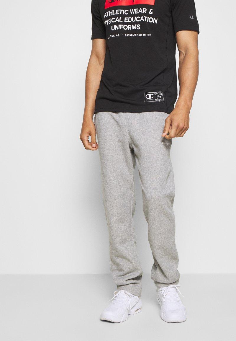 Champion - LEGACY STRAIGHT HEM PANTS - Trainingsbroek - mottled grey