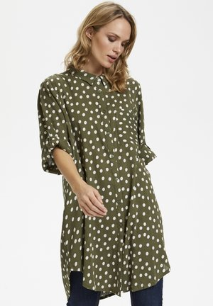 Shirt dress - grape leaf