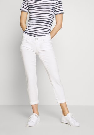 5 POCKET MID WAIST SLIM LEG - Trousers - white