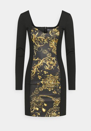 DRESS - Jerseyjurk - black/gold