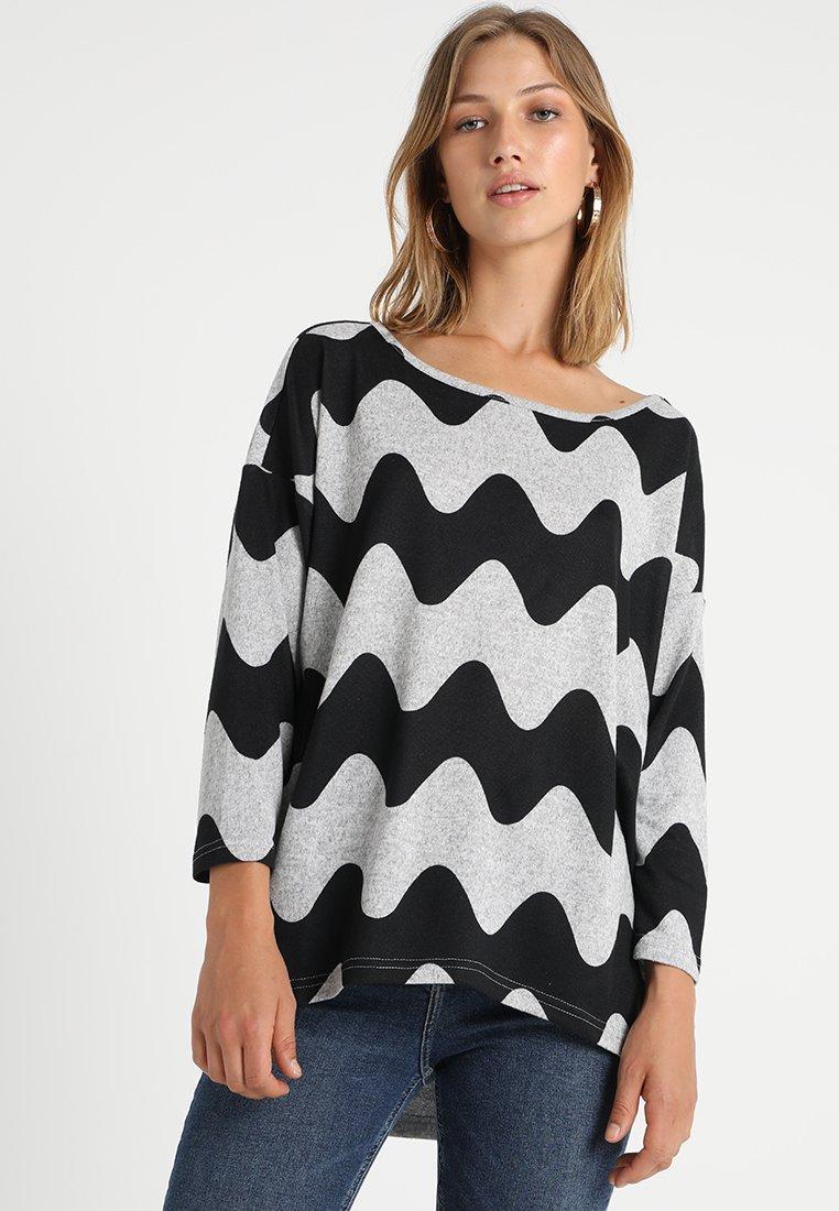 ONLY - ONLELCOS - Jumper - light grey melange/black waves