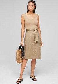 s.Oliver BLACK LABEL - A-line skirt - warm sand - 1