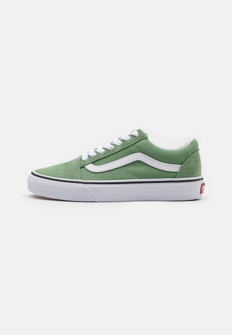 Vans - OLD SKOOL UNISEX - Trainers - shale green/true white