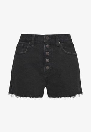 MOM SHANK - Denim shorts - black