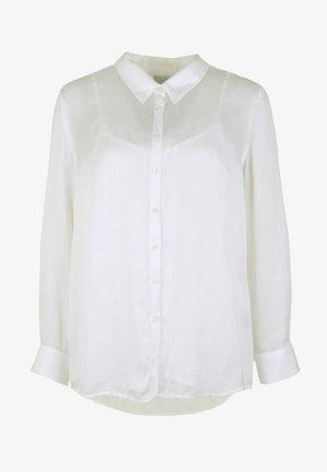 MIT SPITZENTOP - Button-down blouse - white