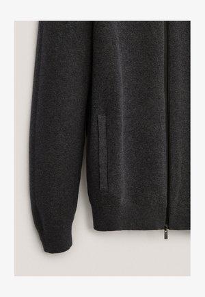 MIT REISSVERSCHLUSS  - Cardigan - dark grey