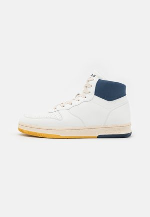 MALONE MID UNISEX - High-top trainers - white/blue/wheat