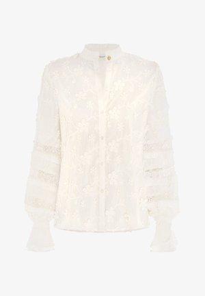 Button-down blouse - cream white