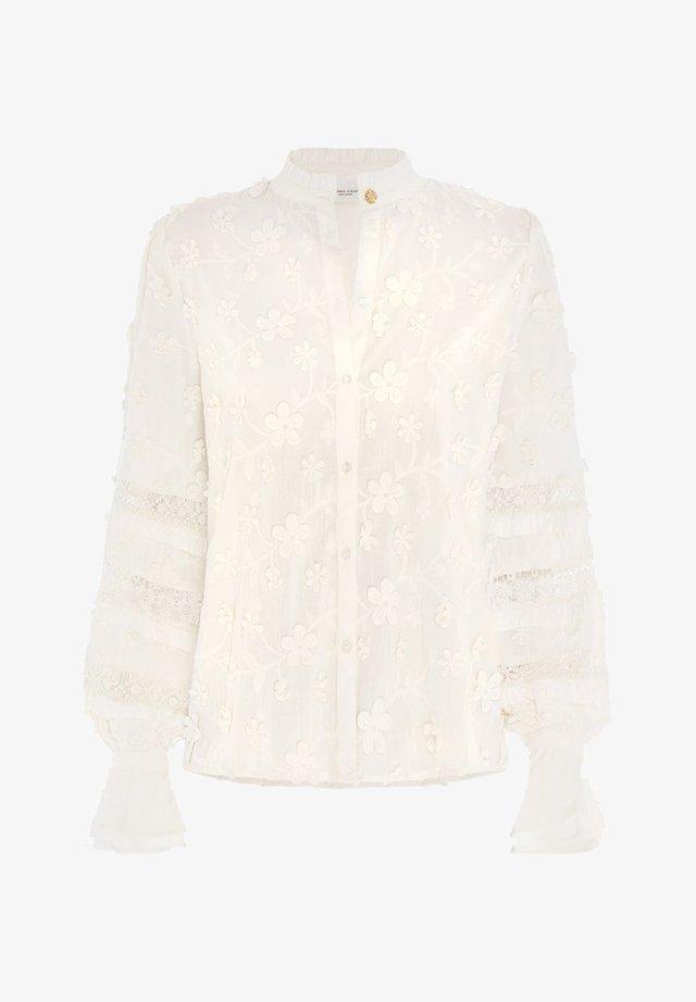 Overhemdblouse - cream white