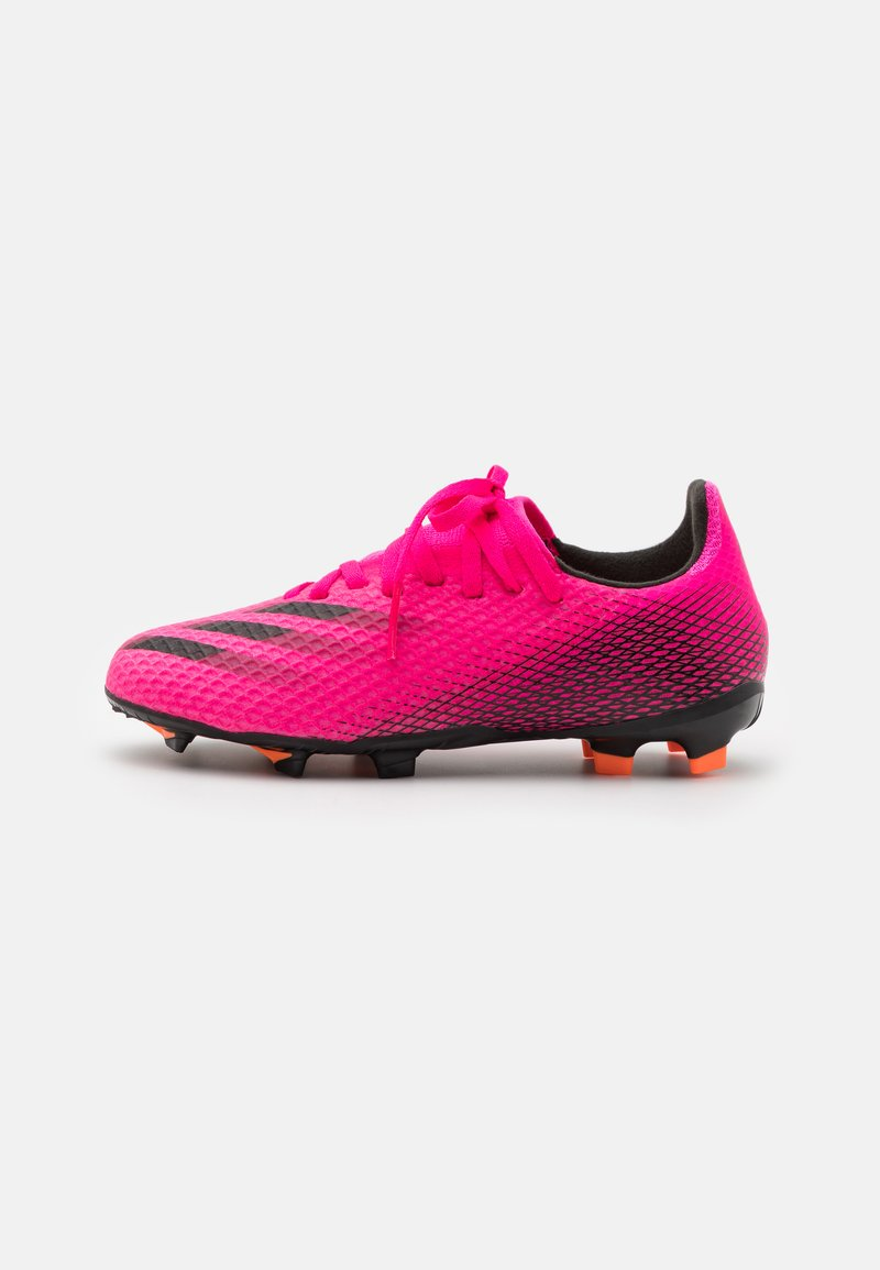 adidas Performance - X GHOSTED.3 FG UNISEX - Kopačky lisovky - shock pink/core black/screaming orange