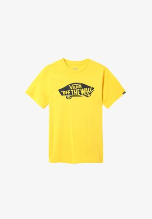 T-shirt med print - lemon chrome-black