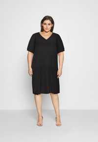 Zizzi - MJANICA KNEE DRESS - Day dress - black - 1