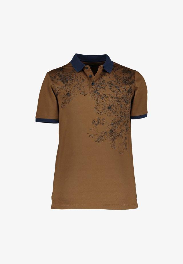 Poloshirt - cognac/navy