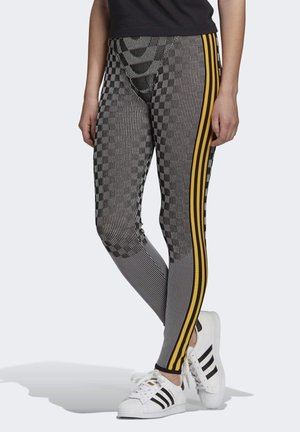 PAOLINA RUSSO REF COLLAB SPORTS INSPIRED SLIM TIGHTS - Leggings - Trousers - black/reflective silver/active gold