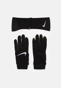 Nike Performance - MENS ESSENTIAL RUNNING HEADBAND AND GLOVE SET - Guanti - black/silver - 0