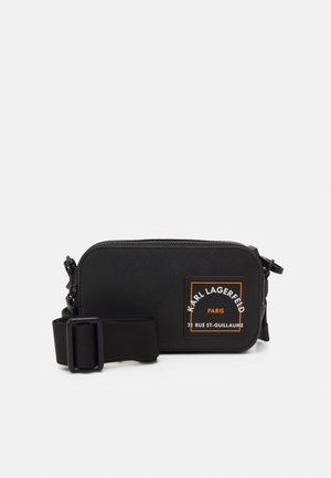 SAFFIANO CAMERA BAG UNISEX - Torba na ramię - black