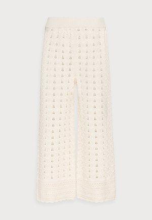 PANTS CROCHET - Kalhoty - white stone