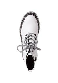Tamaris - Platform ankle boots - white/black - 3