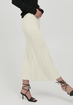 IHRUVERA SK - Maxi skirt - oatmeal melange