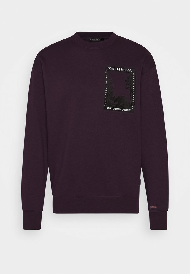 ARTWORK - Sudadera - bordeaubergine