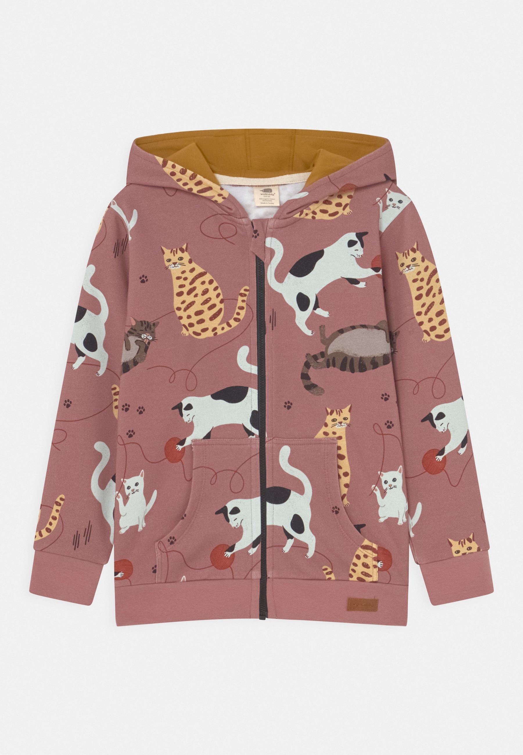 Kids PLAYFUL CATS - Zip-up sweatshirt