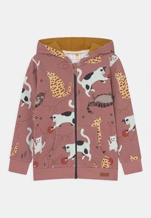 PLAYFUL CATS - Zip-up sweatshirt - pink