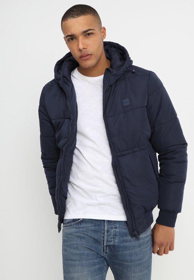 WIDE NECK PUFFER - Light jacket - navy