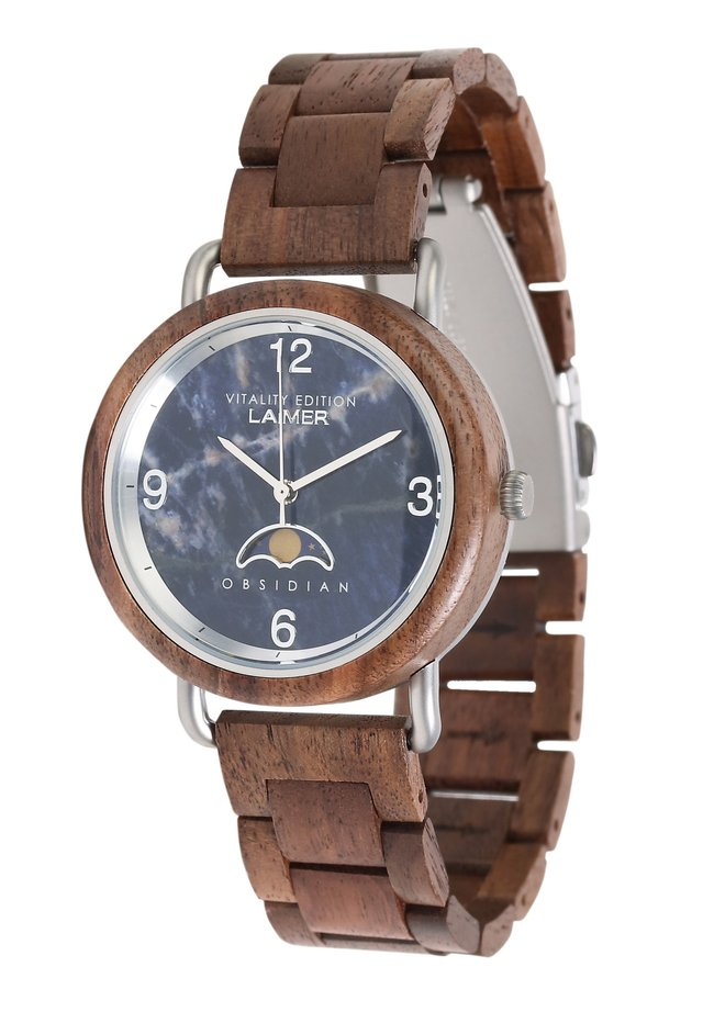 LAIMER QUARZ HOLZUHR - ANALOGE ARMBANDUHR GERTRUD - Watch - brown