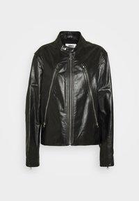MM6 Maison Margiela - Kožená bunda - black - 4