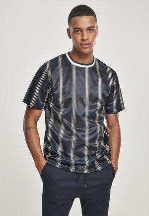 SOUTHPOLE HERREN THIN VERTICAL STRIPES AOP T-SHIRT - Print T-shirt - navy