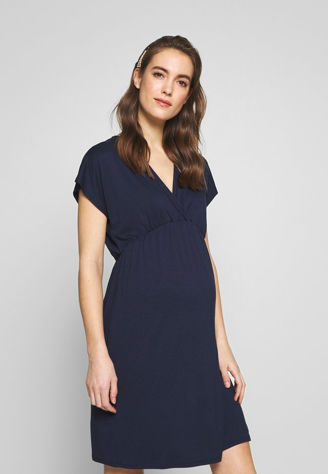 EVI MATERNITY DRESS - Robe en jersey - navy blue