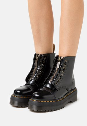 VEGAN SINCLAIR - Platform ankle boots - black oxford