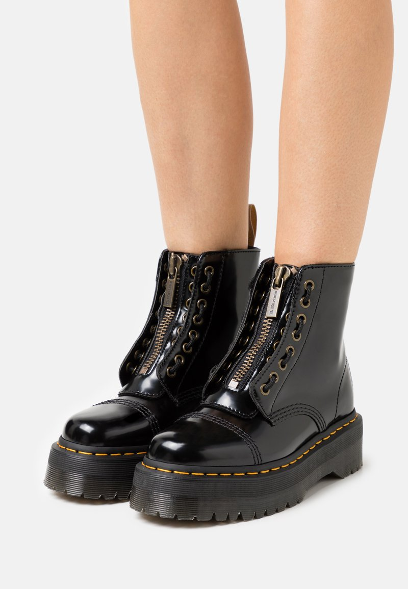 Dr. Martens - VEGAN SINCLAIR - Platform ankle boots - black oxford
